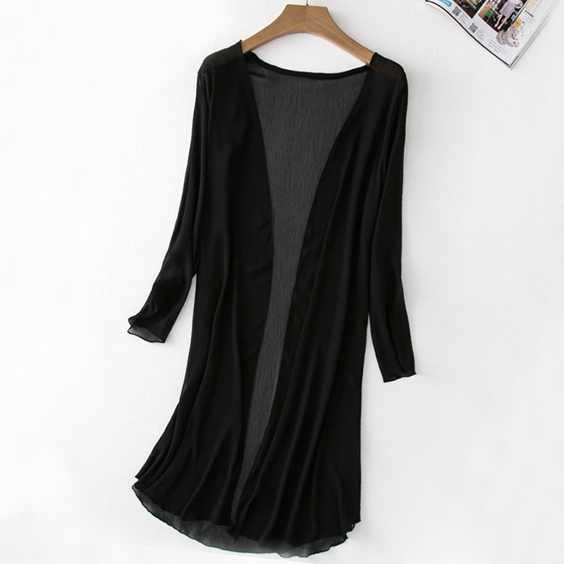 2017 Spring And Summer New Style Mid length Chiffon Blouse Coat WOMEN S Cardigan Large Size Innrech Market.com