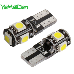 10 pieces T10 LED Bulb Canbus 12V 5050 5 smd 6000K 5W5 W5W LED No error Car Wedge Side Signal Clearance Lamp super Bright White