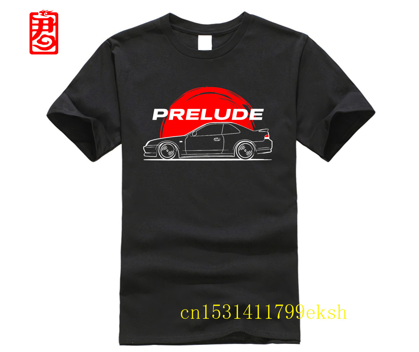 JDM Prelude V T-Shirt  Round Neck Short Sleeve Tee Shirts Exercise Men's Choose Shirts