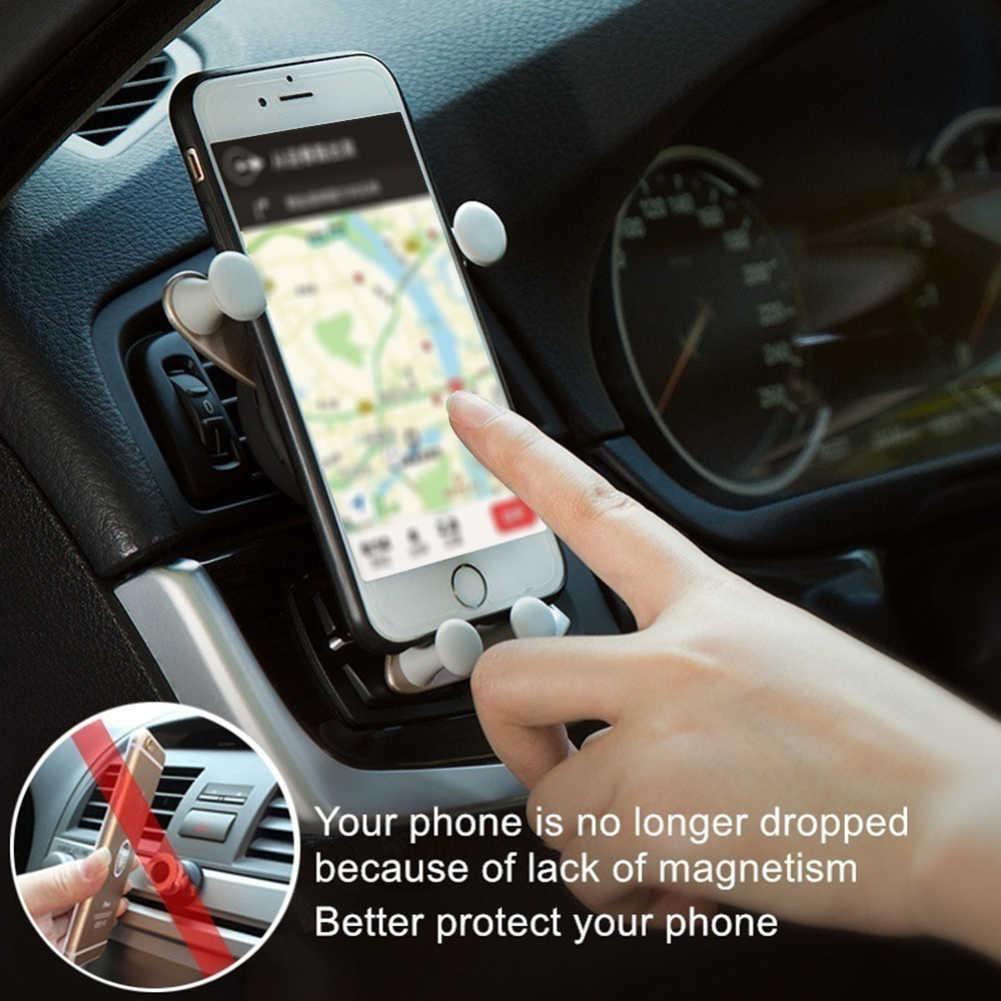 الإبداعية الجاذبية سيارة حامل للهاتف في سيارة الهواء تنفيس قاعدة تركيب مزودة بمشبك لا المغناطيسي حامل هاتف المحمول حامل الهاتف الخليوي حامل هاتف