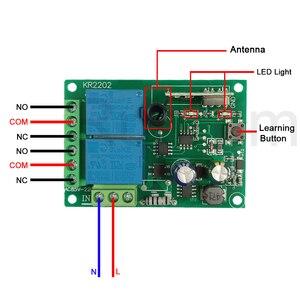 Image 2 - Rubrum 433 MHz AC 110V 220V 2CH Bộ Công Tắc Điều Khiển Từ Xa Điều Khiển + Đa Năng RF Tiếp Nhận đèn Nhà Để Xe Mở Cửa