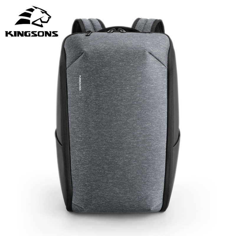 Kingsons Man Backpack Fit 15 Inch Laptop Upgraded USB Recharging Multifunctional Travel Male Bag Anti-thief Waterproof Mochila