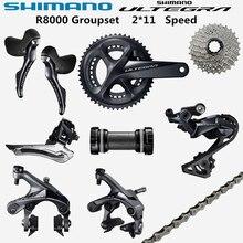 SHIMANO R8000 Groupset ULTEGRA R8000 6800 Deragliatore Della Bicicletta Della STRADA 50 34 52 36 53 39T 165 170 172.5 175 millimetri 11 25 11 28 11 32T