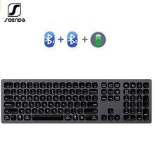 Usb клавиатура seenda Аккумуляторная алюминиевая с поддержкой