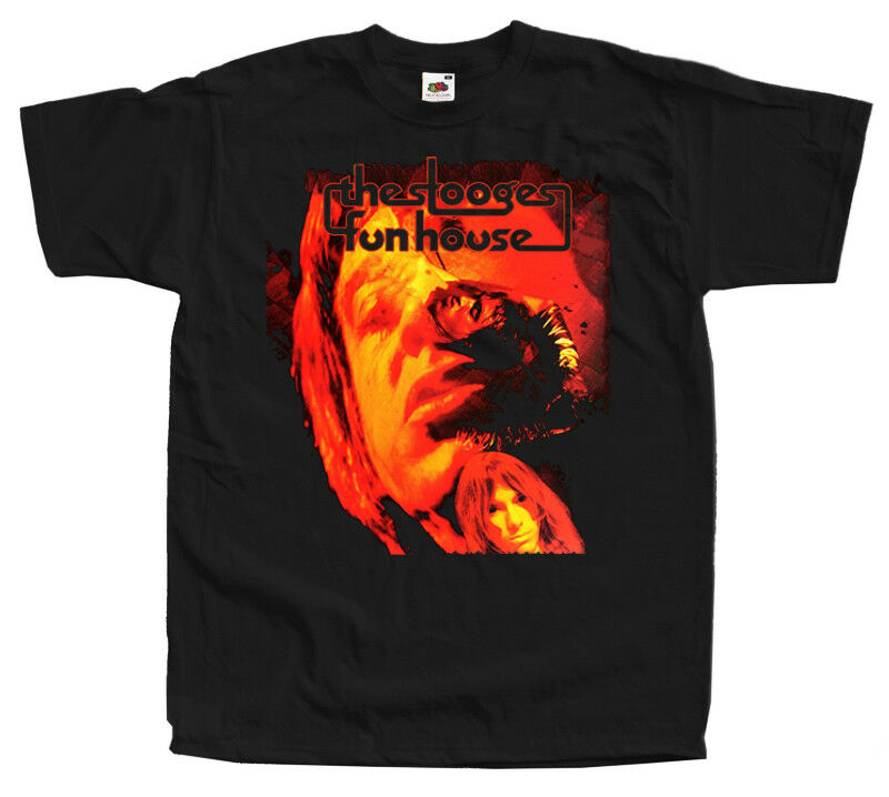 The Stooges Fun House1970 Hard Rock Band Black T-shirt 100% Cotton Sizes S-5XL image