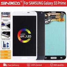 """5.1 """"סופר AMOLED לסמסונג גלקסי S5 ראש G906S G906L G906K LCD תצוגת מסך מגע Digitizer עבור Samsung S5 ראש LCD G906"""