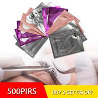 500 paires Extension de cils papier maquillage patchs conseils sous les coussinets pour les yeux greffés autocollants pour les yeux Extension des cils oeil Lashe outil de maquillage