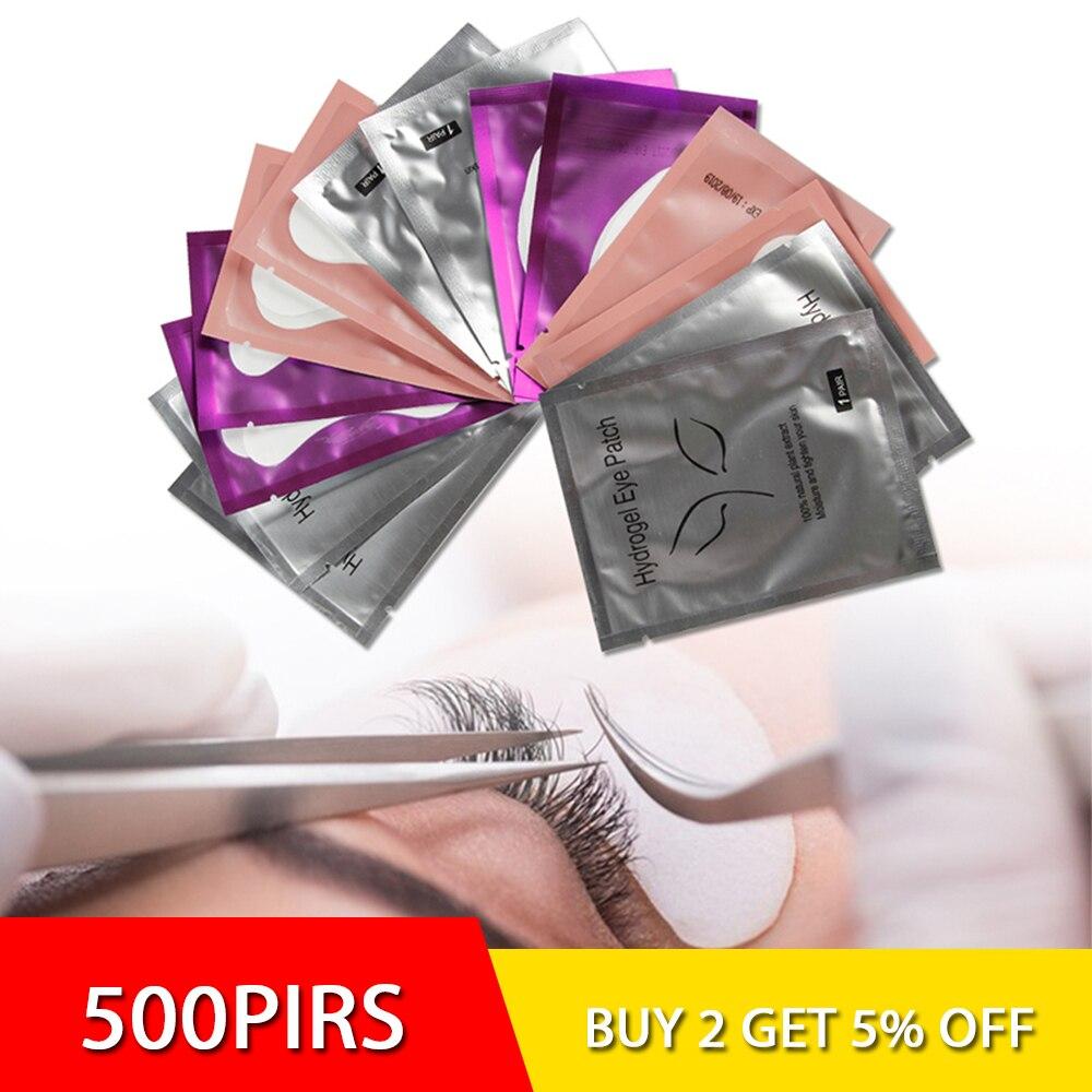 500 paare Wimpern Verlängerung Papier Machen Up Patches Tipps Unter Eye Pads Gepfropft Eye Aufkleber Lash Verlängerung Auge Lashe Make-Up werkzeug