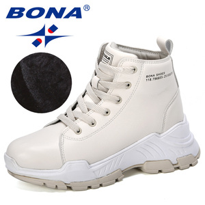 Image 4 - BONA 2019 New Designers Microfiber Snow Boots Women Short Plush Boots Ladies Ankle Boots Warm Winter Footwear Feminimo Trendy