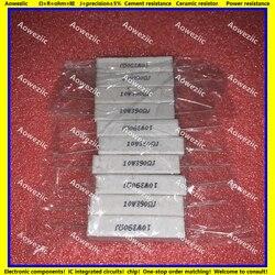 10 pçs rx27 resistor de cimento horizontal 10 w 390 ohm 390 rj 10w390rj 10w390ohm resistência cerâmica 5% resistência energia