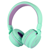 ROCKPAPA Bluetooth Stereo Portable Foldable Stretchable wireless Kids Headphones With Microphone 3.5mm Audio Jack