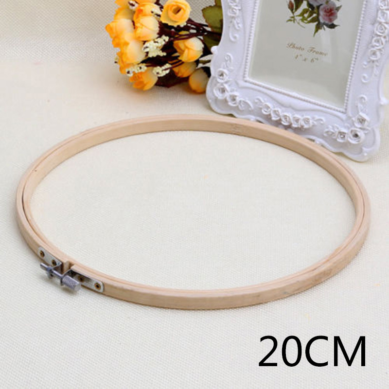 3 Inch Bamboo Embroidery Frame Cross Stitch Hoop Frame Tapestry Ring Craft