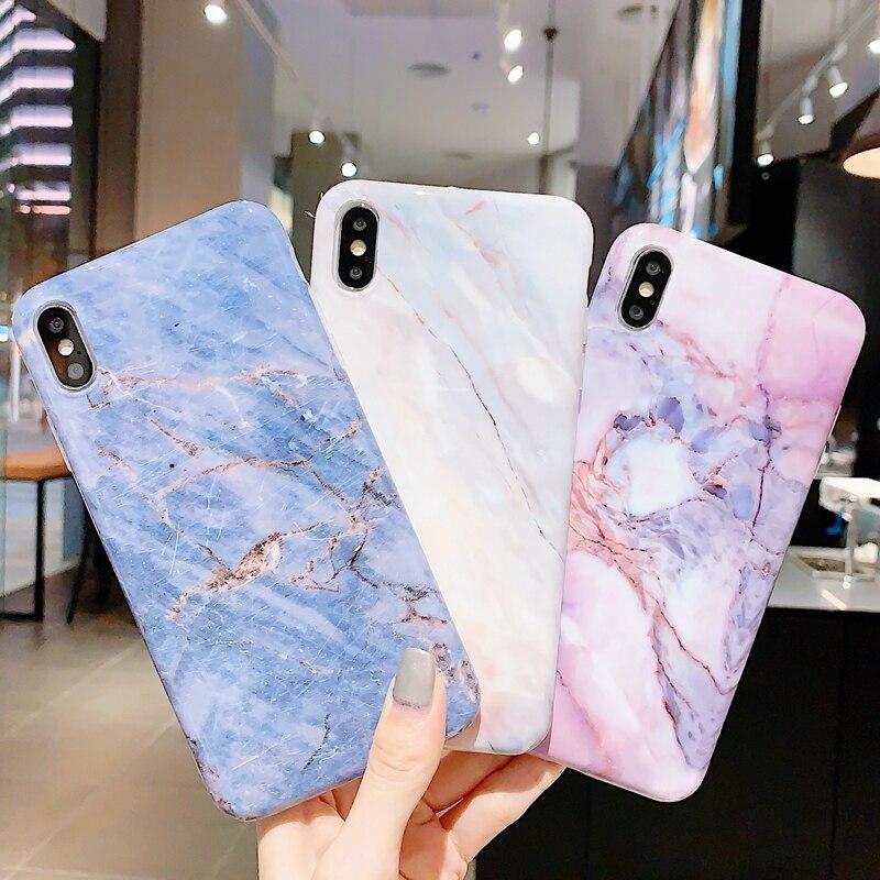 Patrón de flor a prueba de golpes Silicona Suave Carcasa Protectora para iPhone XS Max XR 6s 7 8+ Fundas y carcasas para teléfonos móviles y PDAs