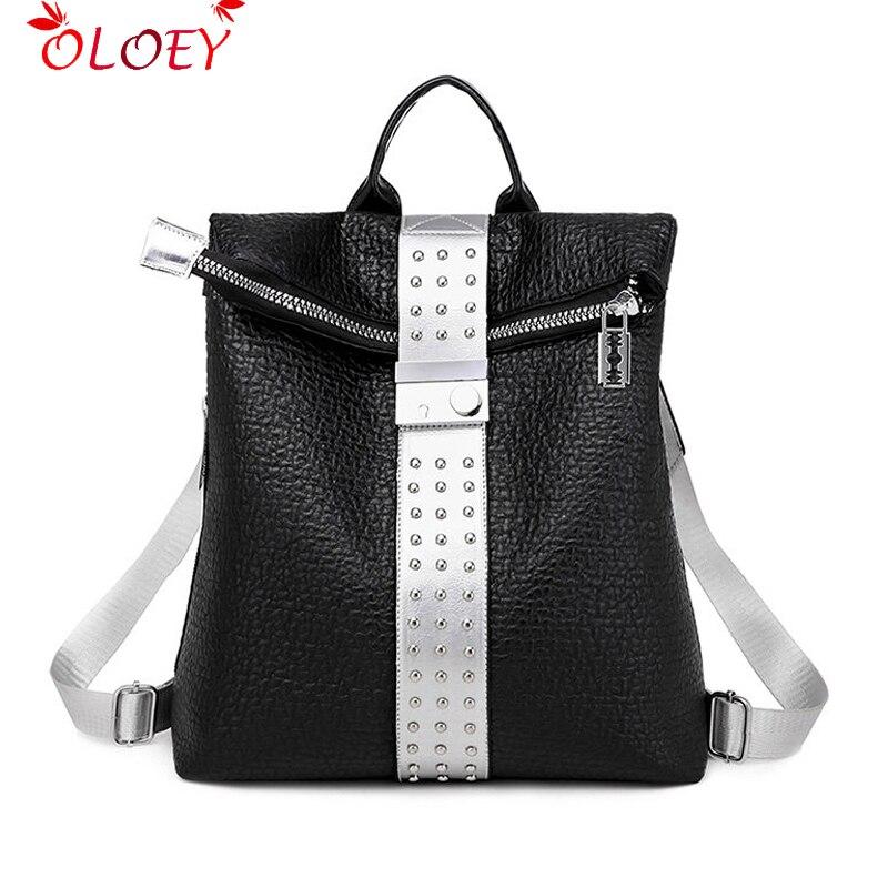 Fashion Multifunction Women Backpacks 2019 Shoulder Bags Fashion Backpack Leather Women Backpacks Lady Large Capacity School Bag