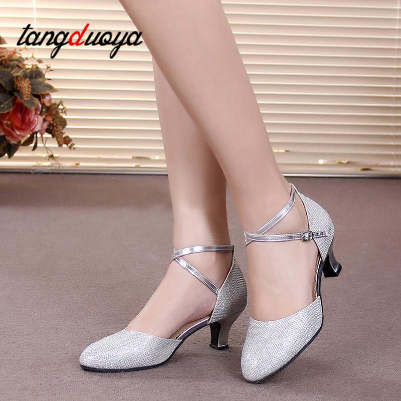 New Latin dance shoes female professional Latin dance shoes adult salsa dance modern dance shoes dance shoes dance shoes women image