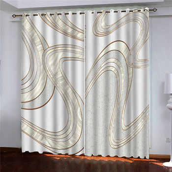 3D Window Curtain Simple pattern Luxury Blackout Living Room office Bedroom Customized size
