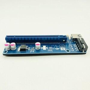 Image 3 - Kable komputerowe złącza PCIE Riser PCI E 16x/x16 Riser do karty graficznej kabel usb 3.0 Molex 4Pin SATA Power do bitcoinów Mining