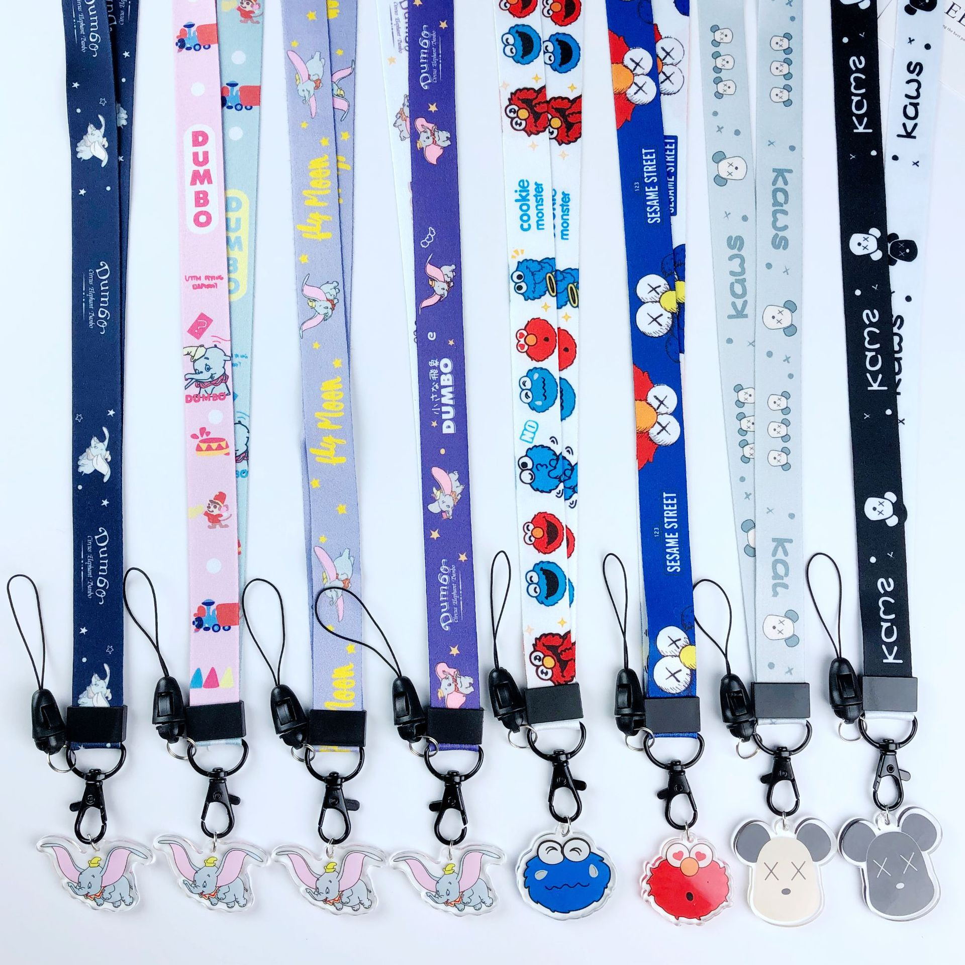SuperSenter Premium Lanyard Goofy Cartoon Themed Hook /& Phone String Keychains or ID Badge Holders