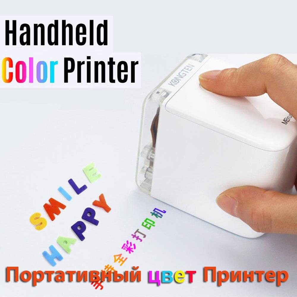 MBrush Mini taşınabilir renkli yazıcı özelleştirilmiş metin akıllı telefon kablosuz baskı mürekkep püskürtmeli yazıcı ile 1200dpi mürekkep kartuşu