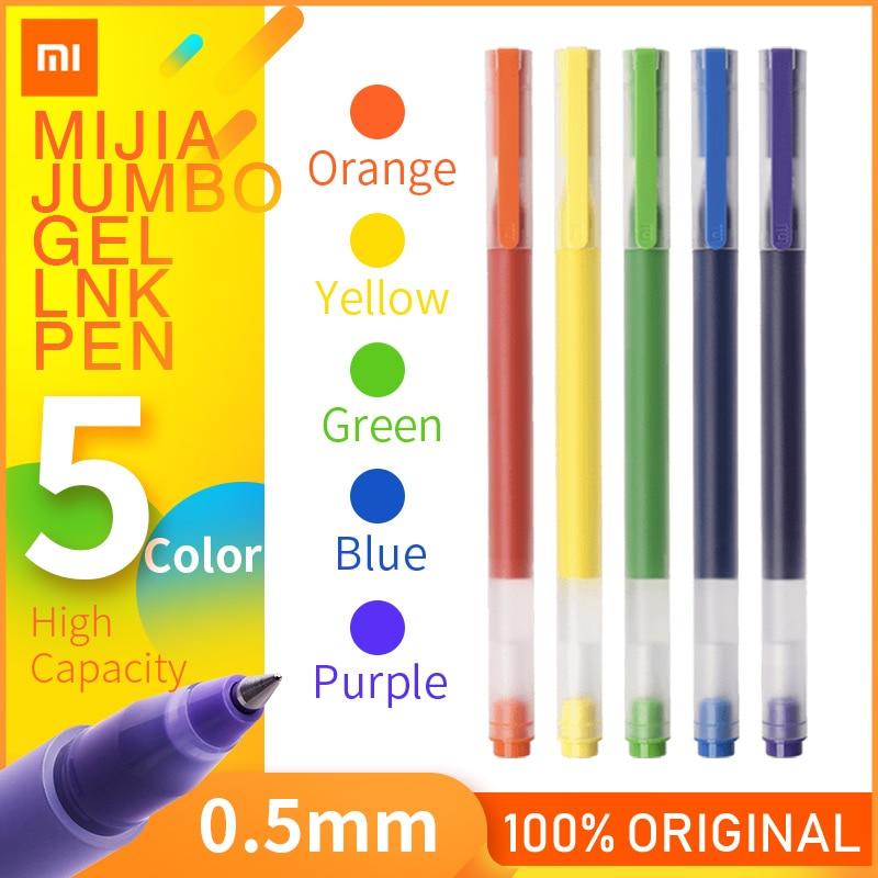 Ручка Xiaomi Mijia Pen Mi, ручки для подписей с швейцарским стержнем 0,5 мм, ролик с синими чернилами 143 мм, шариковые ручки для письма Mi Home для школы