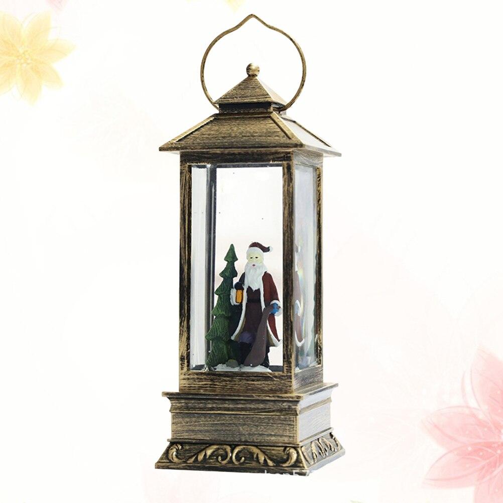 1PC Hängen Laterne Glowing Glas Rechteckigen Weihnachten Licht Schnee Laterne Hängen Lampe Für Festival Dekoration - 3