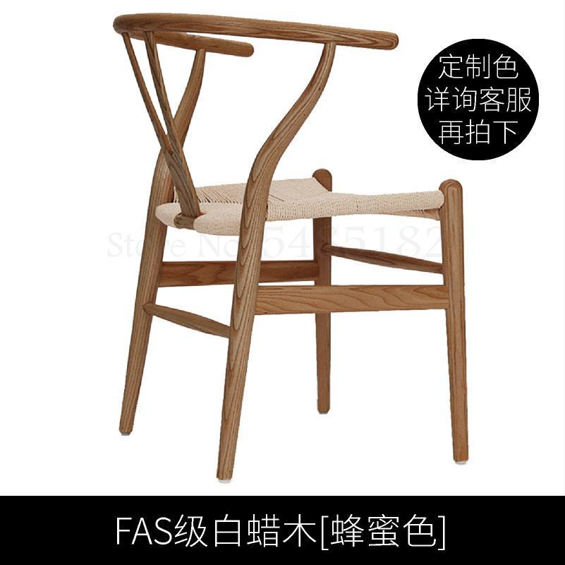 Hotel armrest back wishbone chair Y chair cafe restaurant solid wood dining chair beech woven rope seat ring chair