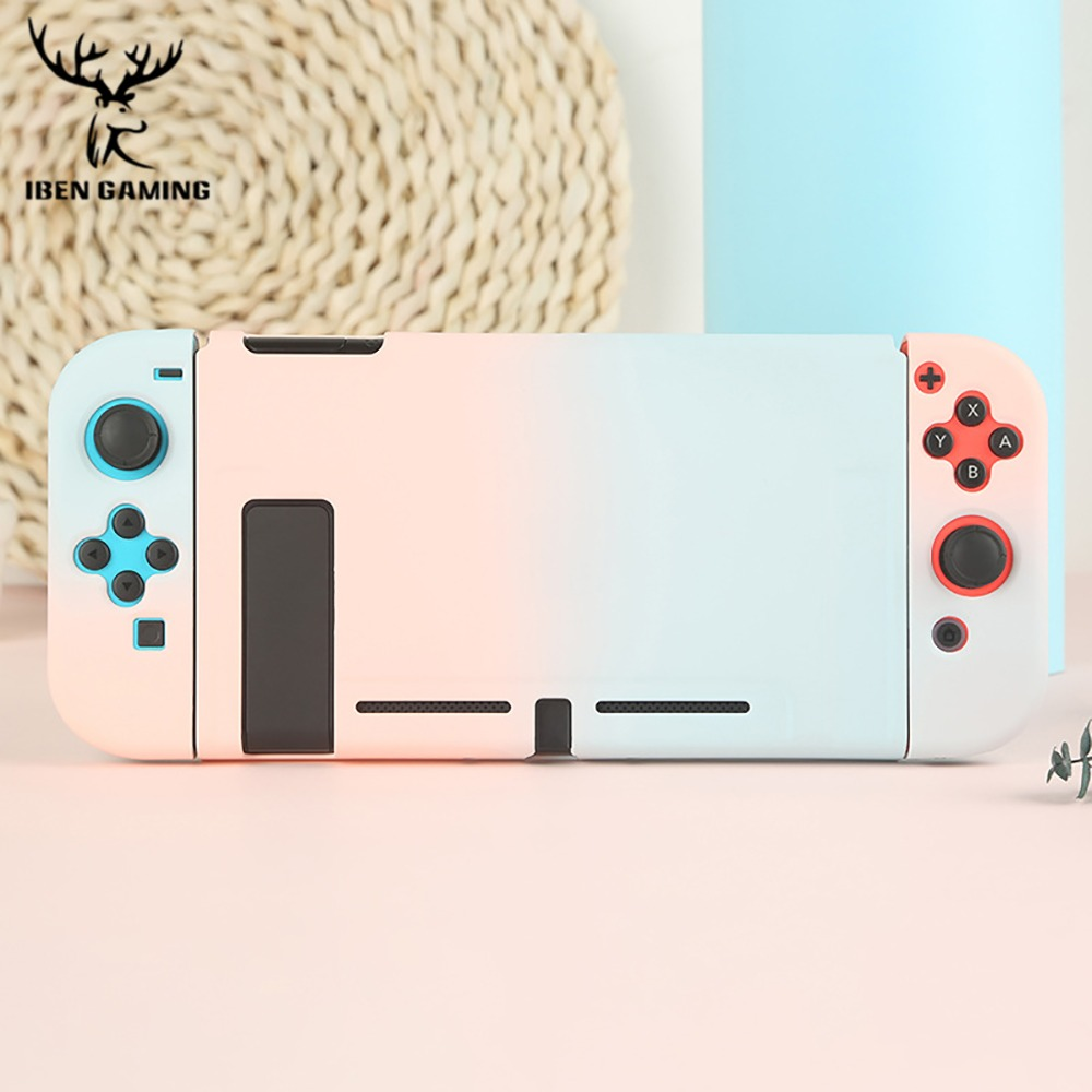 Protective Case Joy Con Controller Shell Hard Housing Full Cover Shell For Nintend Switch Game Console Colorful Shell (1)