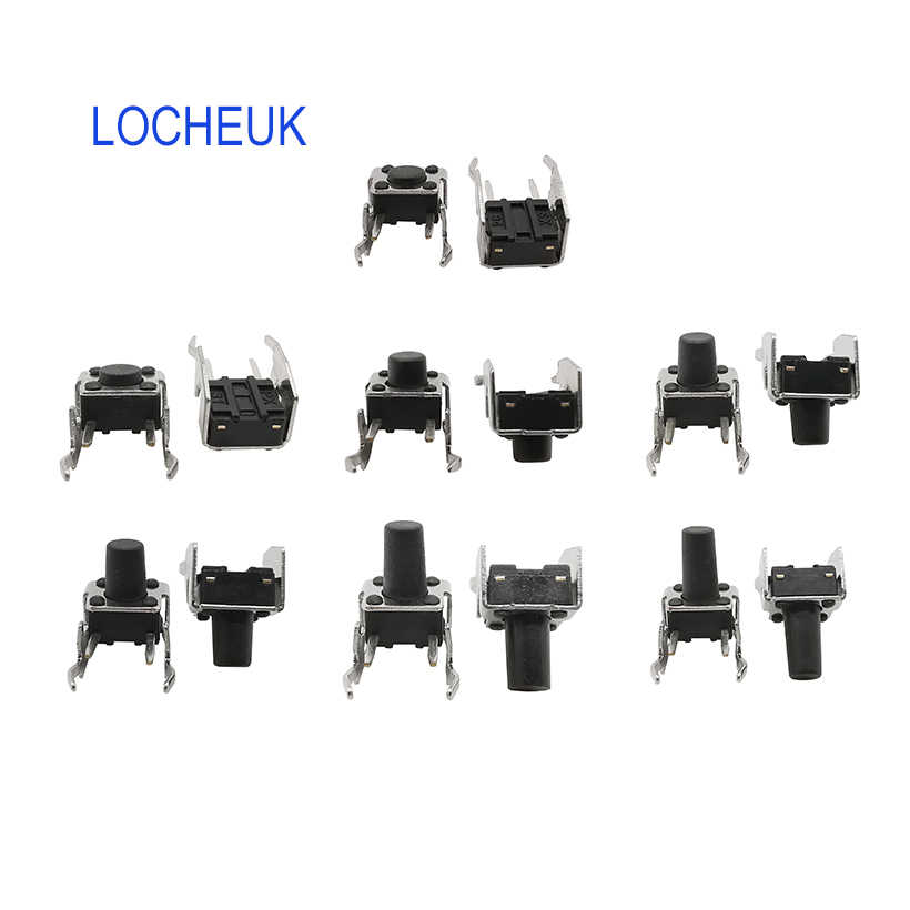 20pcs 6x6x8MM touch tactile switch two pin horizontal button switch right angle