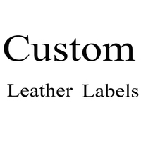 1000Pcs Custom Tags Personalized PU Leather Lable For Handmade Crafts Faux Leather For Knitting Tags For Clothes Wholesale