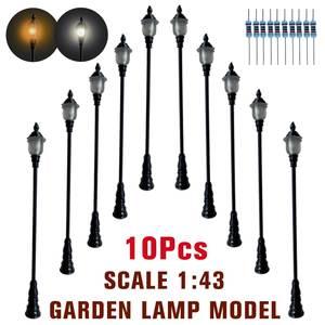 1:43 Model Lamp Mini Railway Train Garden Lamp Street Light Lamppost Layout Landscape Model Building Kits