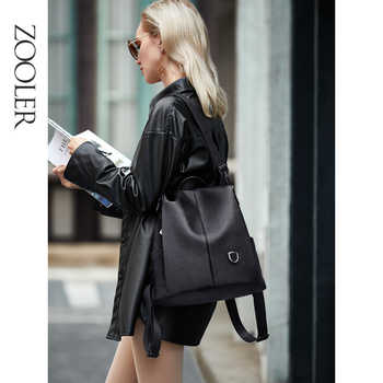 ZOOLER рюкзак женский кожаный COW leather backpack Women Genuine Leather bags bagpack backpacks сумка женская 2020 travel Bolsa - DISCOUNT ITEM  55 OFF Luggage & Bags