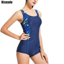 Riseado Sports One Piece Swimsuit 2019 Swimming Suits for Women Racer Back Swimwear Professional Boyleg Bathing