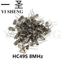 20pcs hc-49s 8MHz 8.000mhz  HC49S 8M quartz resonator Crystal Oscillator