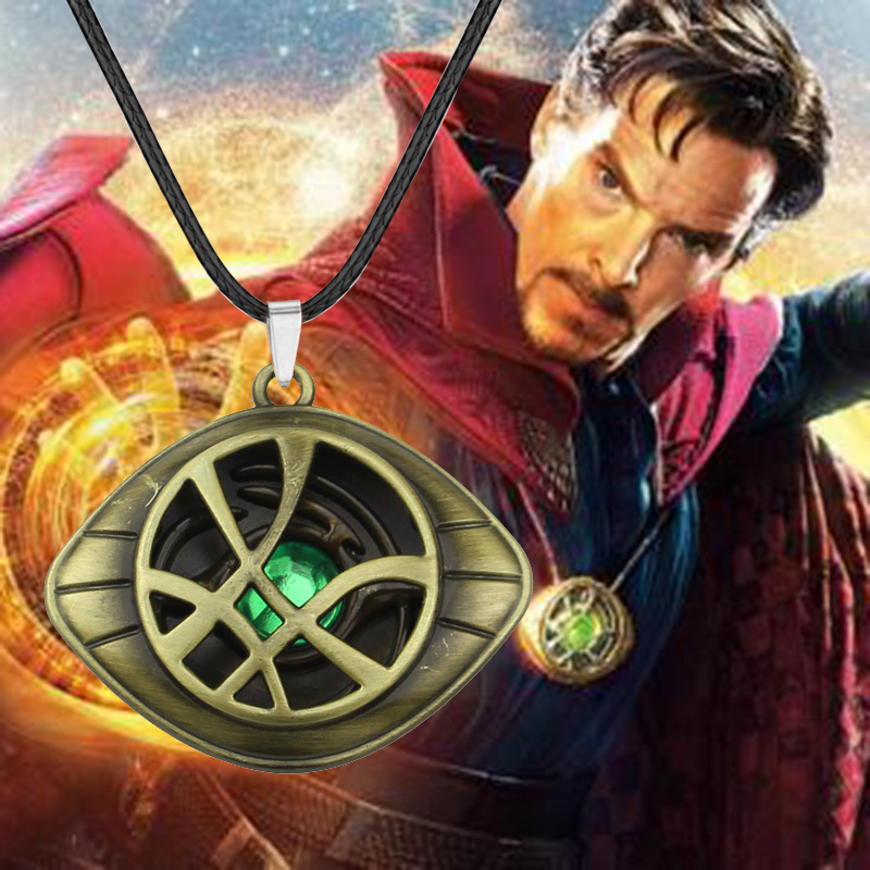 Avengers 4 Endgame 1:1  Dr Doctor Strange Pendant Eye Of Agamotto Necklace Collection Cosplay Halloween Christmas Props