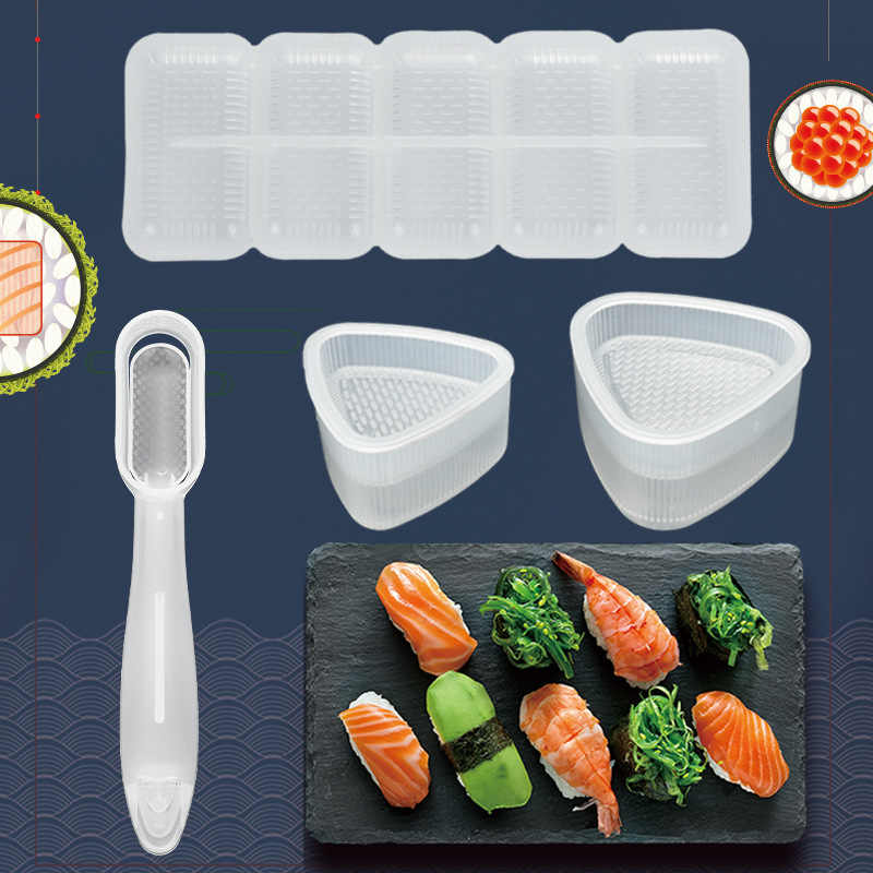 Diy Sushi Mold Onigiri Rice Ball Food Press Triangular Sushi Maker Mold Sushi Kit Japanese Kitchen Bento Accessories Sushi Tools Aliexpress