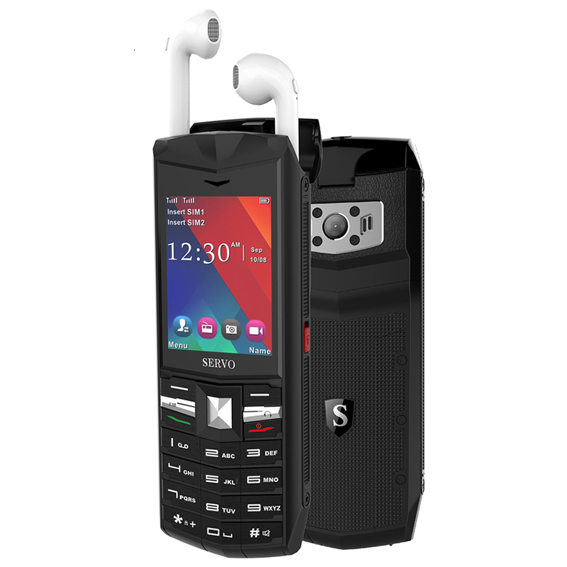 3000mAh Power Bank Russian Keyboard Mobile Phone 2.4