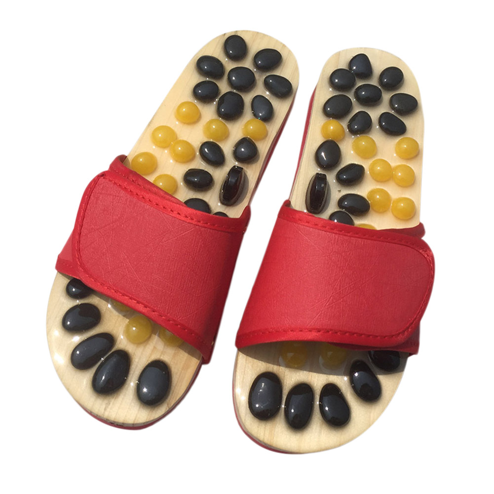 Non-slip Acupoint Massage Slippers Foot Relaxation Pain Relief Home Shoes Women Summer Couples Non-slip Slippers Women shoes