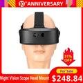 Visor de visión nocturna, montura de cabeza, Binocular Digital de visión nocturna de 60M en iluminador de Infrarrojo Cercano oscuro para accesorios de caza nocturna
