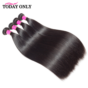 Image 4 - Steil Haar Bundels Haarverlenging Vandaag Alleen Natuurlijke Kleur Peruaanse 1/3/4 Bundels 100% Remy Human Hair Bundels 8 26 Inch