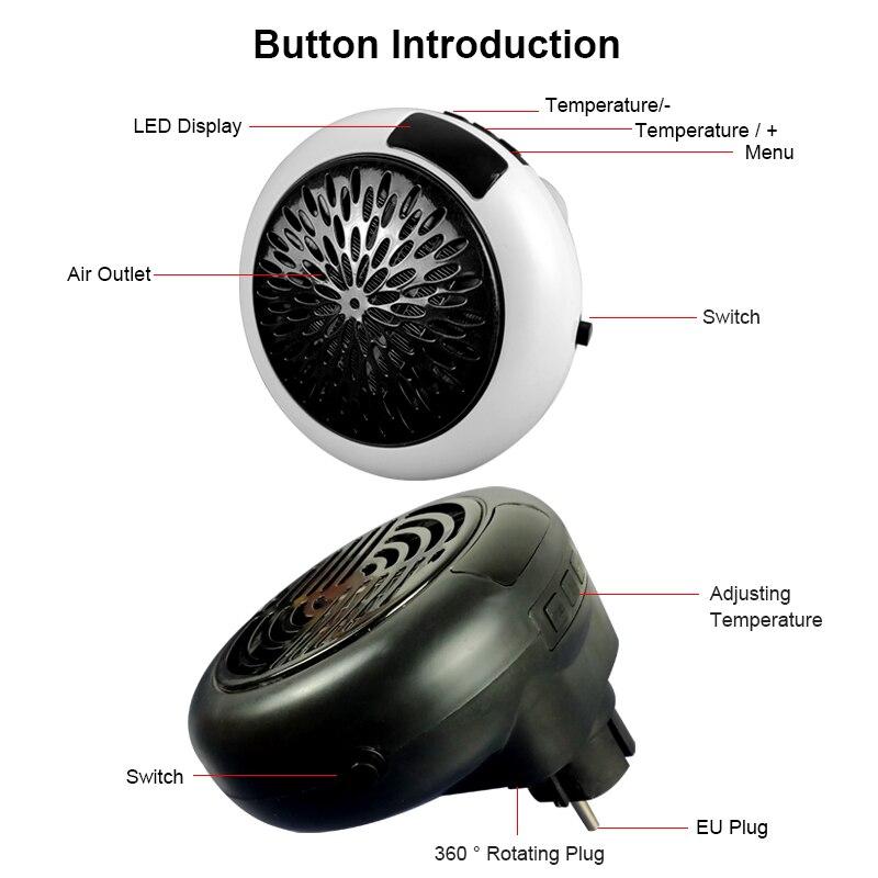 Fan Heater For Home 900w Mini Electric Heater Home Heating Electric Warm Air Fan Office Room Heaters Handy Air Heater Warmer Fan 5