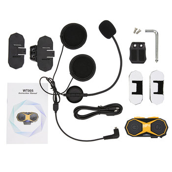 2pcs Waterproof Motorcycle Helmet Headset Moto Wireless Bluetooth Headphones Intercom Interphone Headset with FM Radio for Rider