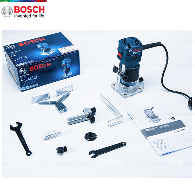 Bosch 550W Woodworking Electric Router trimmer 33000rpm Wood Milling Engraving Slotting Trimming machine Hand Carving Carpentry 6
