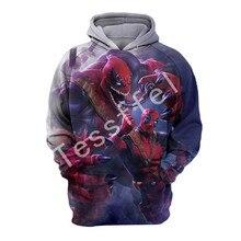 Tessffel Venom Deadpool NewFashion Harajuku casual  3D Printed Hoodie/Sweatshirt/Jacket/shirts Mens Womens hiphop funny style-1