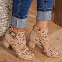 Fashion Women Sandals Gladiator Buckle Strap High Heel Shoes Woman Sandalias Mujer 2020 Summer Plus Size 35-43 platform Sandals summer women sandals gladiator sandals women strange metal high heel 9 cm womens shoes 2018 zapatos mujer plus size hl94muyisexi