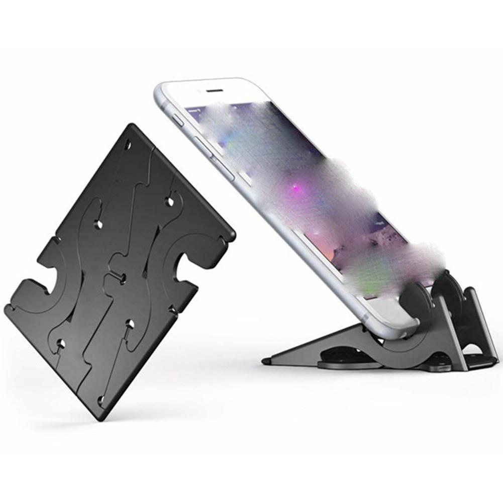 Cell Phone Tablet Stand Universal Foldable Pocket-sized Plastic V <font><b>Smartphone</b></font> CellPhone <font><b>Desk</b></font> <font><b>Holder</b></font> image