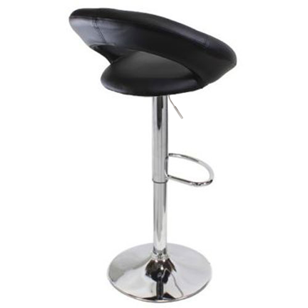 Fashion 2Pcs Bar Chair Leather Swivel Bar Stools Chairs Height Adjustable Round Cushion Computer Chair For Home Office Kitchen