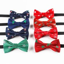 Christmas Children's Young STUDENT'S Performance Bow Elastic Ribbon Bowtie