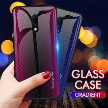 Luxury Case For Oneplus 7 Pro Shockproof Gradient Glass Texture Glossy Anti-knock Phone for Oneplus7 1+7 Cover