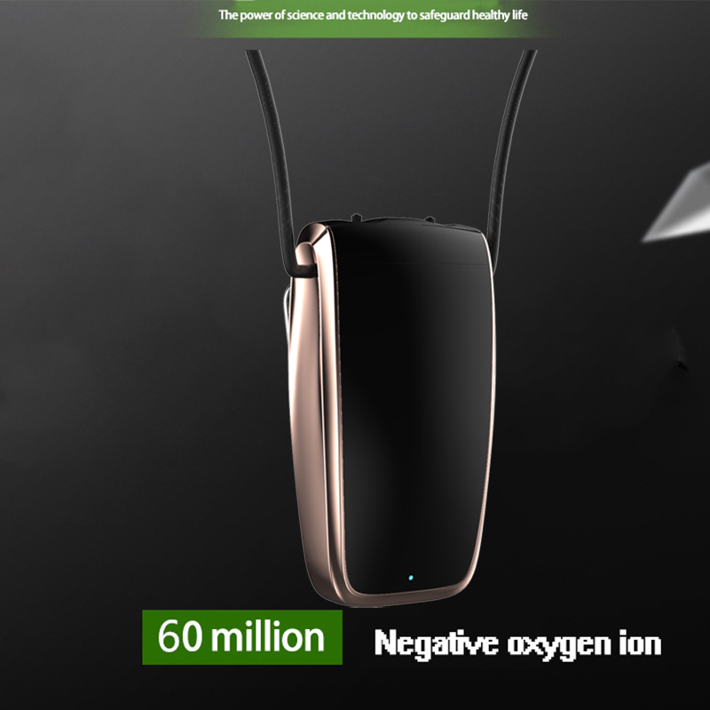 Portable Air Purifier, Necklace Wearable Purifier, Mini Travel Size USB Charging, Air Freshener Ionizer 4