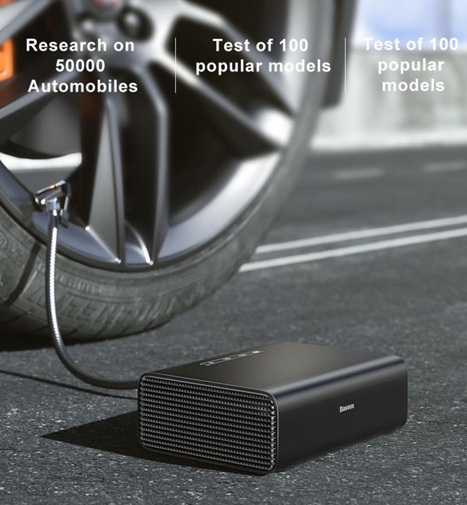 Baseus Intelligent Car Air Compressor Tire Inflatable Pump 4